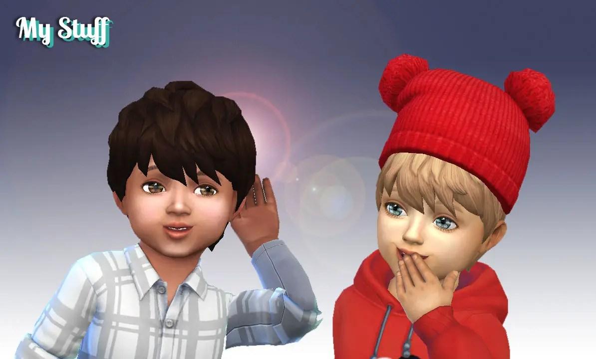 Sims 4 Hairs Mystufforigin Messy Hair For Toddlers