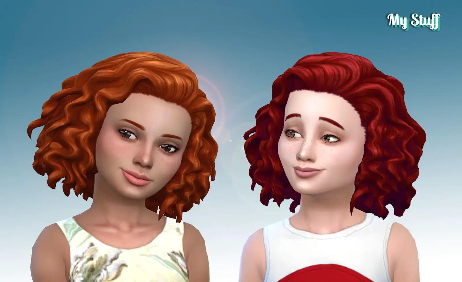 Sims 4 Hairs Mystufforigin Medium Mid Curly Hair For Girls