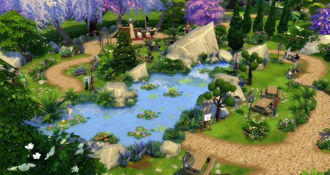 Cherry Blossom Park At Studio Sims Creation Sims 4 Updates