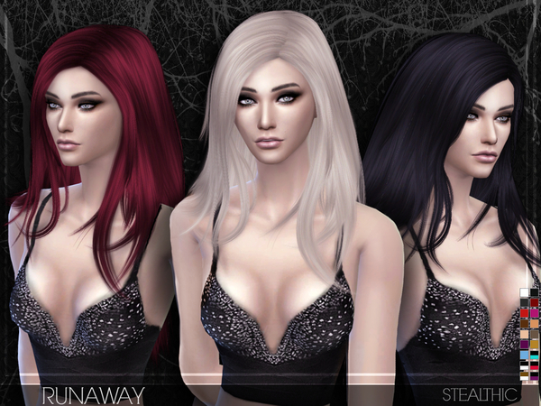Runaway Female Hair by Stealthic at TSR image 10216 Sims 4 Updates