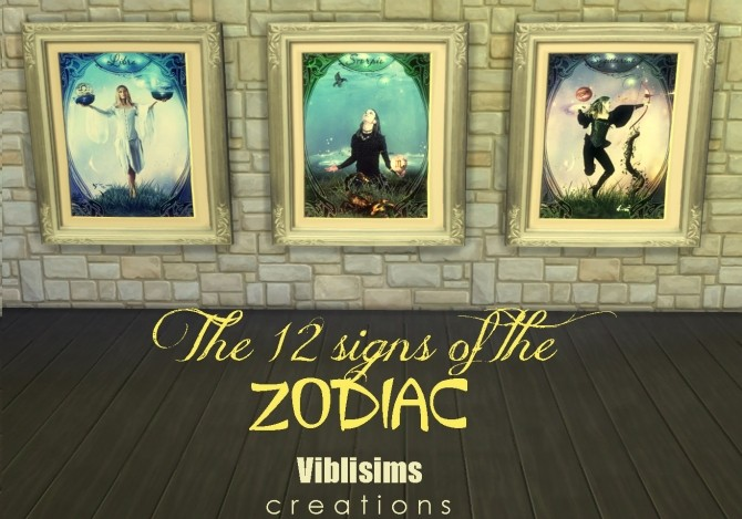 The 12 Signs Of The Zodiac Paintings By Ciaolatino38 At