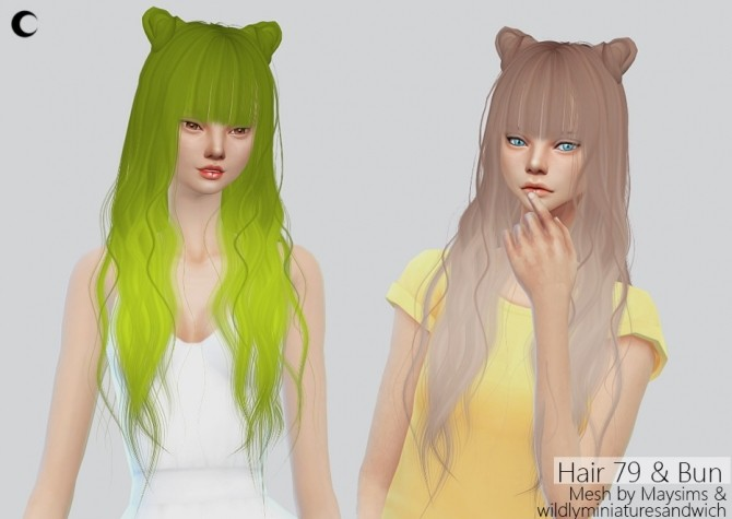 Sims 4 Cc Buns HAIRSTYLE GALLERY