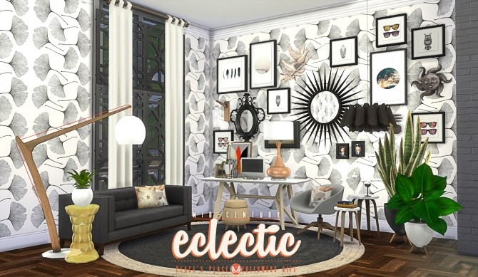 Mid Century Eclectic Object Set At Simsational Designs