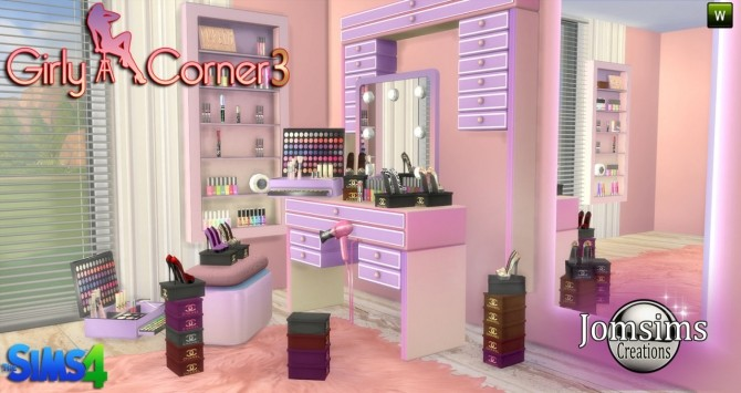 Girly Corner 3 Set At Jomsims Creations Sims 4 Updates