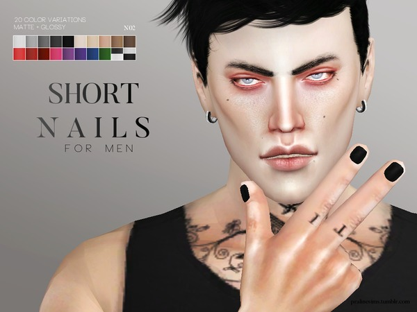 Nail Pack For Men By Pralinesims At TSR Sims 4 Updates