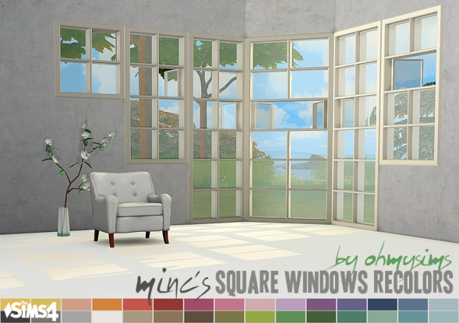 Basic Square Windows Recolors At Oh My Sims 4 Sims 4 Updates