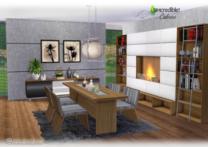 Cadence Diningroom At SIMcredible Designs 4 Sims 4 Updates
