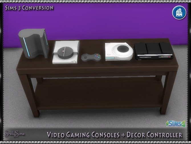 Video Gaming Consoles Decor Controller At SrslySims