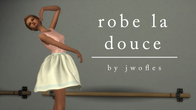 Ballet Dress By Jwofles At Mod The Sims Sims 4 Updates