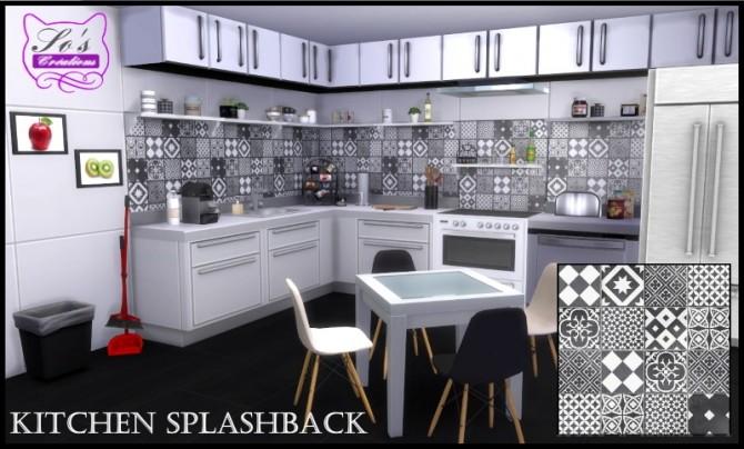 Kitchen Splashback By Sophie Stiquet At Les Sims4 Sims 4