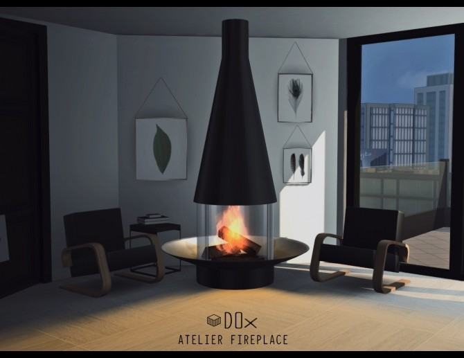 Luxury Fireplace Trio P At DOX Sims 4 Updates