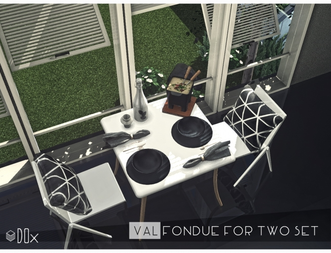 VAL Fondue For Two Set At DOX Sims 4 Updates