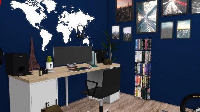 Teenage Boy Bedroom At Modelsims4 187 Sims 4 Updates