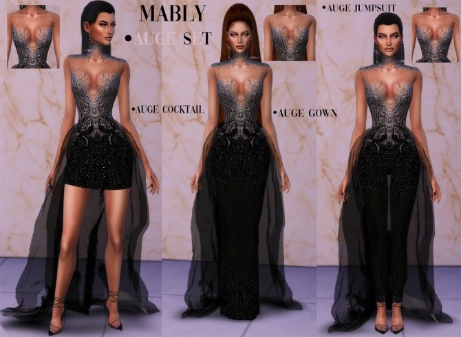 AUGE SET dresses and jumpsuit at Mably Store image 6917 670x490 Sims 4 Updates