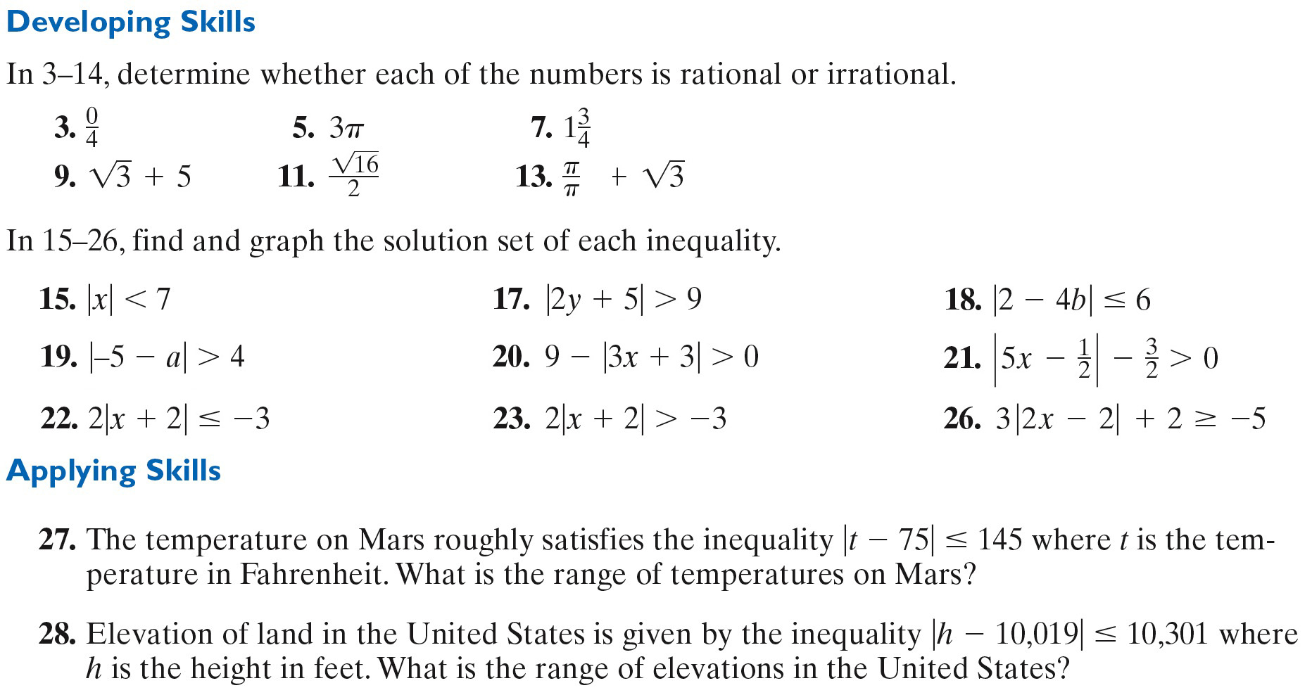Homework Real Numbers Amp Absolute Value