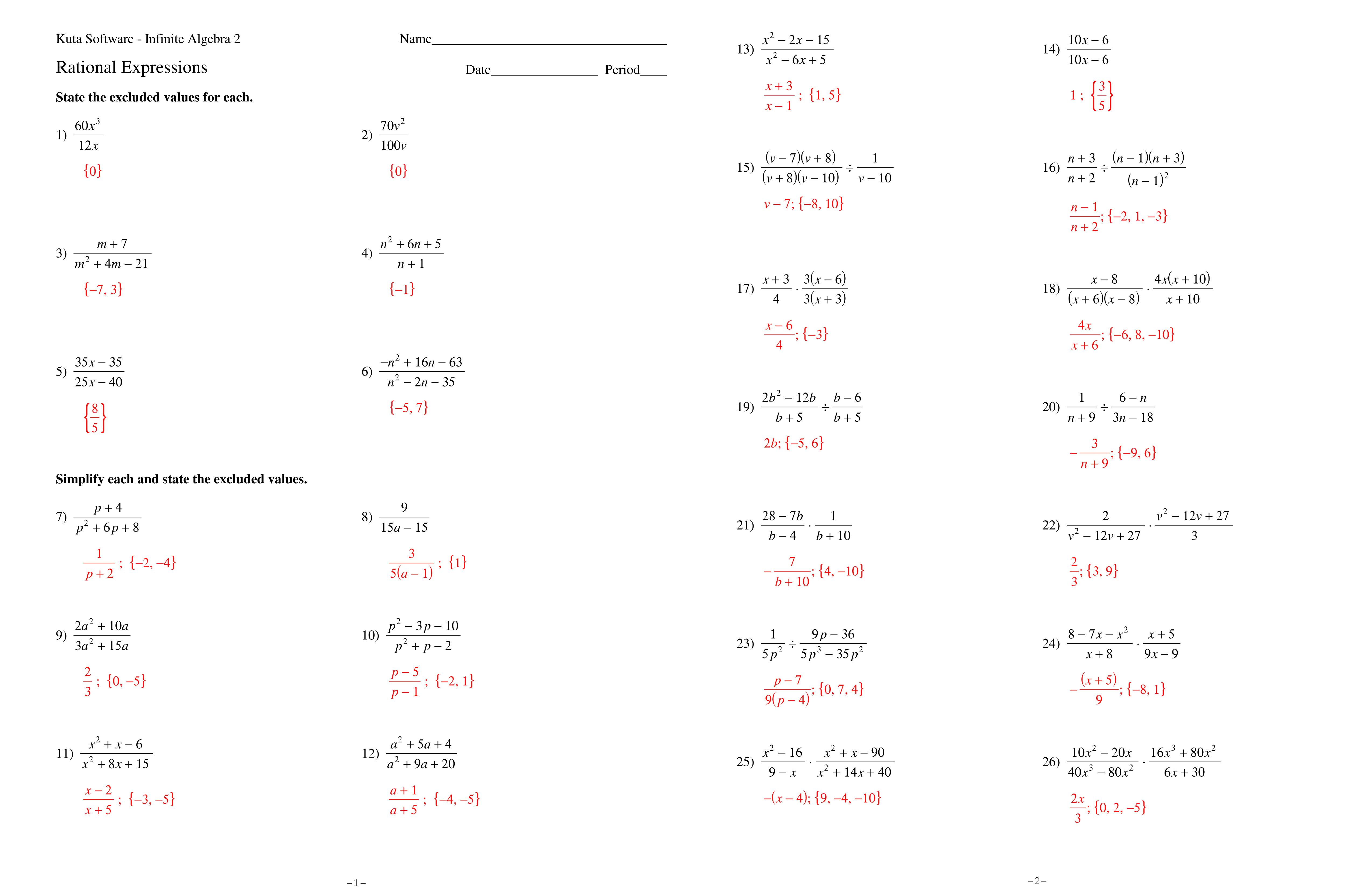 Simplifying Radical Expressions Worksheet Answer Key