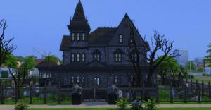 goth mansion ts4