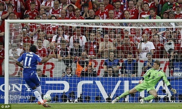 Drogba Winning Penalty UEFA Champions League 2012
