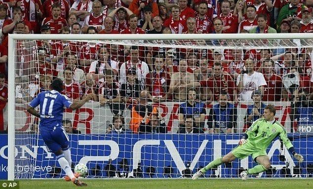 Drogba Winning Penalty UEFA Champions League 2012