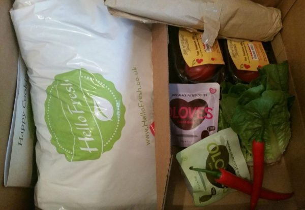 Getting to grips with a HelloFresh box!