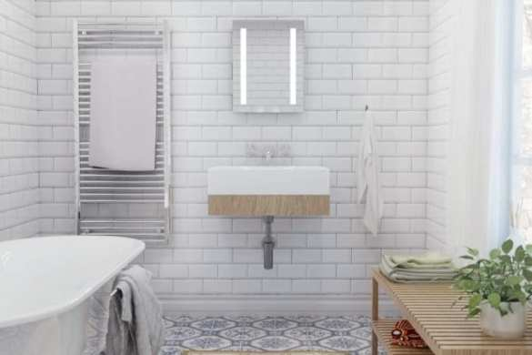 Creating space in a small bathroom