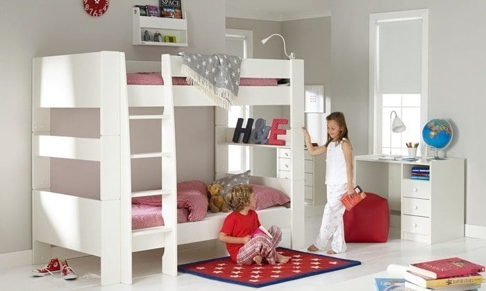 Save space with bunk beds
