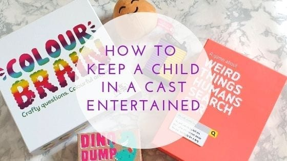 How To Keep A Child In A Cast Entertained