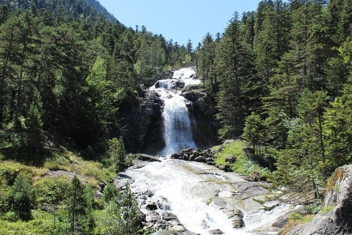 waterfall in Pyrenees