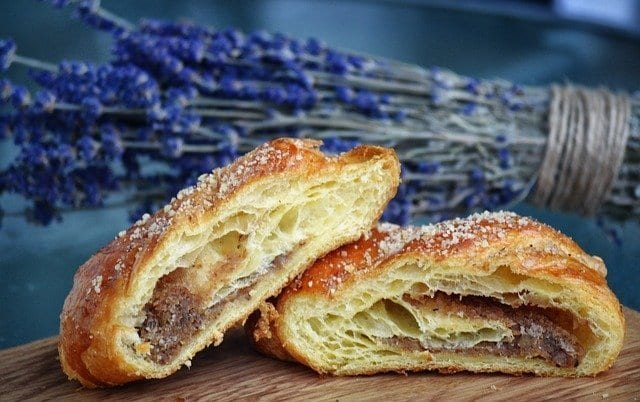 croissant with lavender