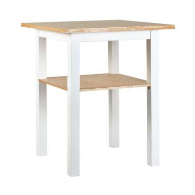 mesa alta madera para bar M44 70x70 blanco