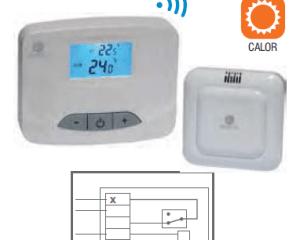 termostato ambiente digital vía radio Seico WH1-RF