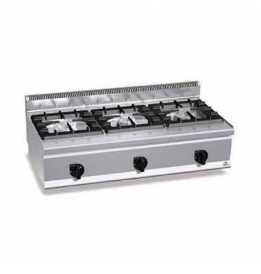 Cocina industrial 3 fuegos sobremesa Berto's G6F3BH12