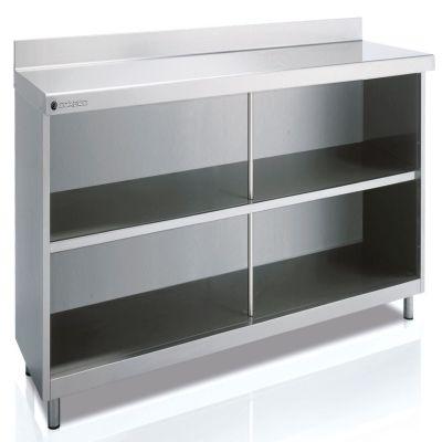Mesas de acero inox frente mostrador para hostelería Coreco SEFM60