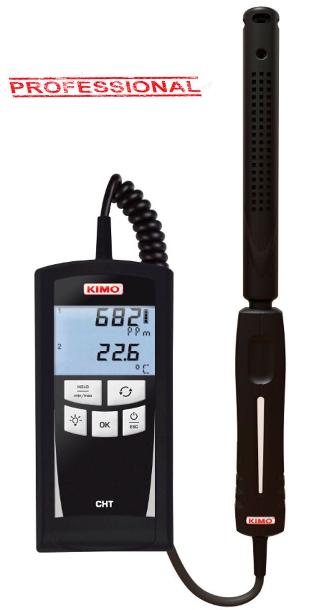 Medidor de CO2 Kimo CHT