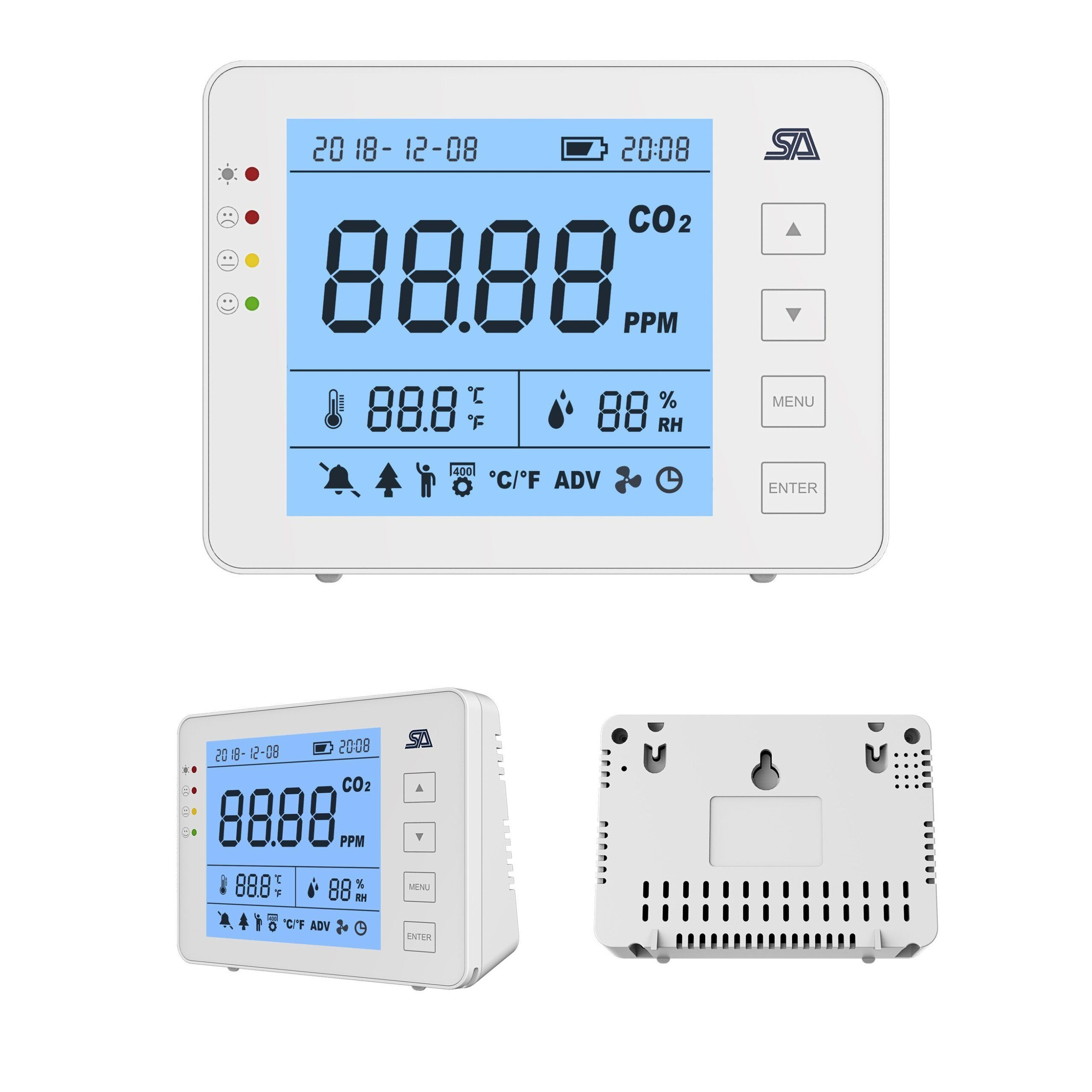 Medidor de CO2, Humedad y Temperatura ST-802