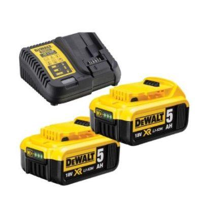 Kit 2 Baterias XR+Cargador Dewalt 18V