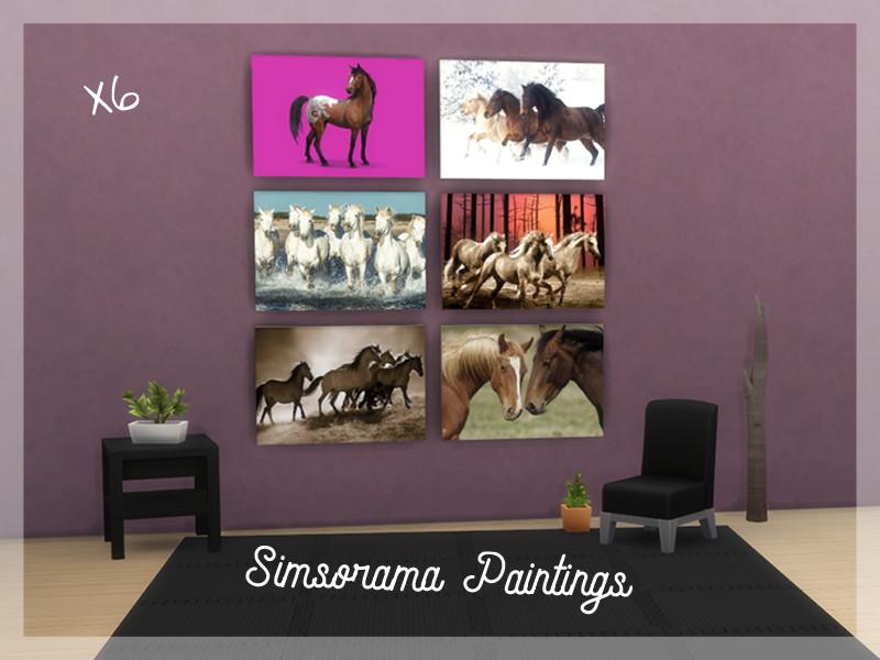 6 Tableaux de chevaux