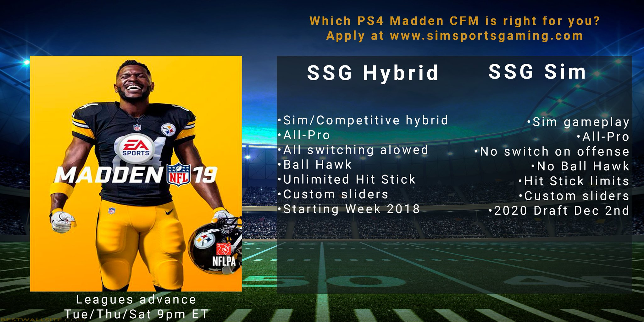 New Hybrid CFM Added to SSG Family Whatever style you prefer, we have a few openings in both PS4 Madden CFMs