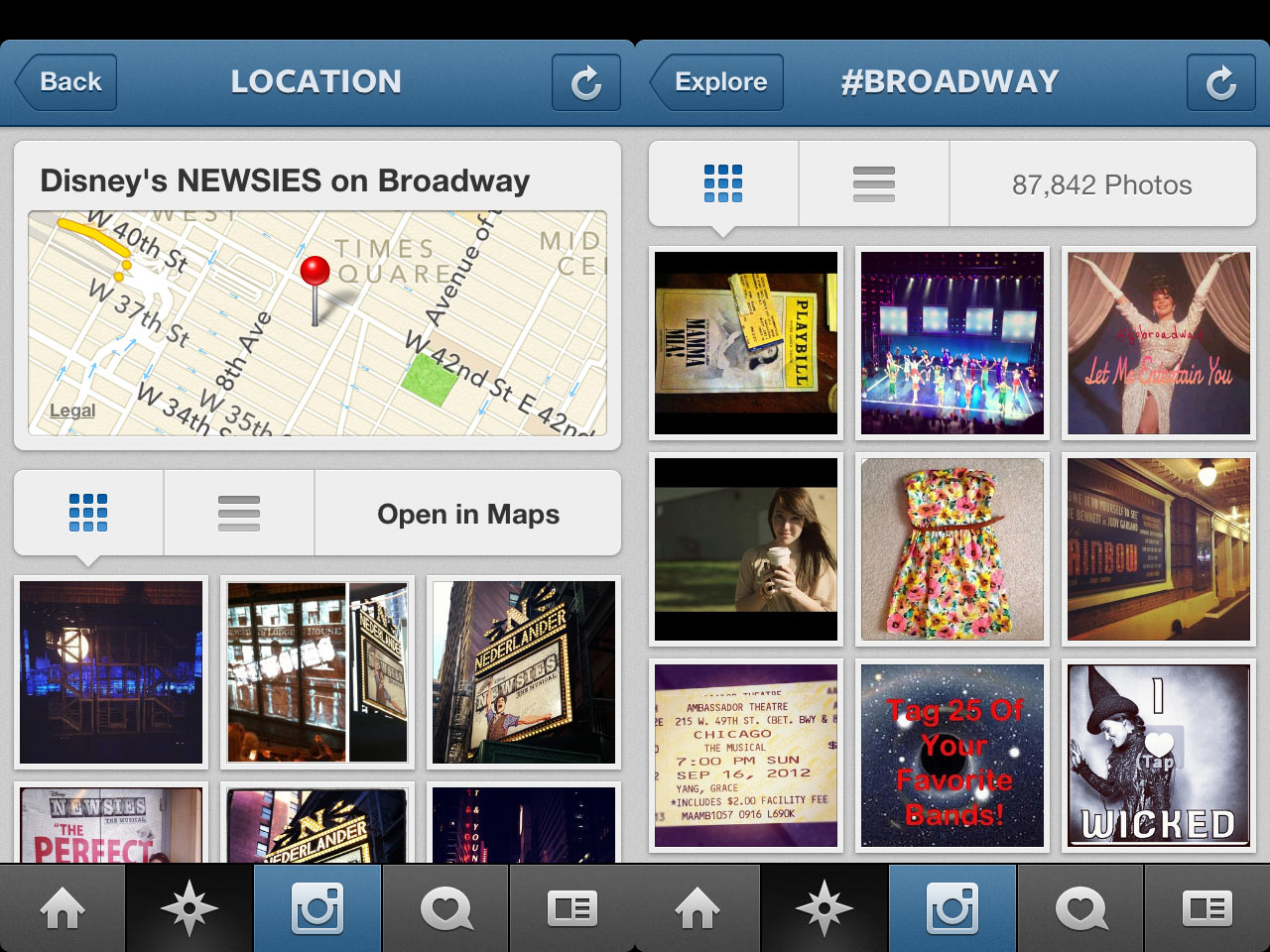 HuffPost: Smile Broadway! You're on Instagram
