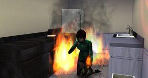 Sims 4 Yanarak Ölme
