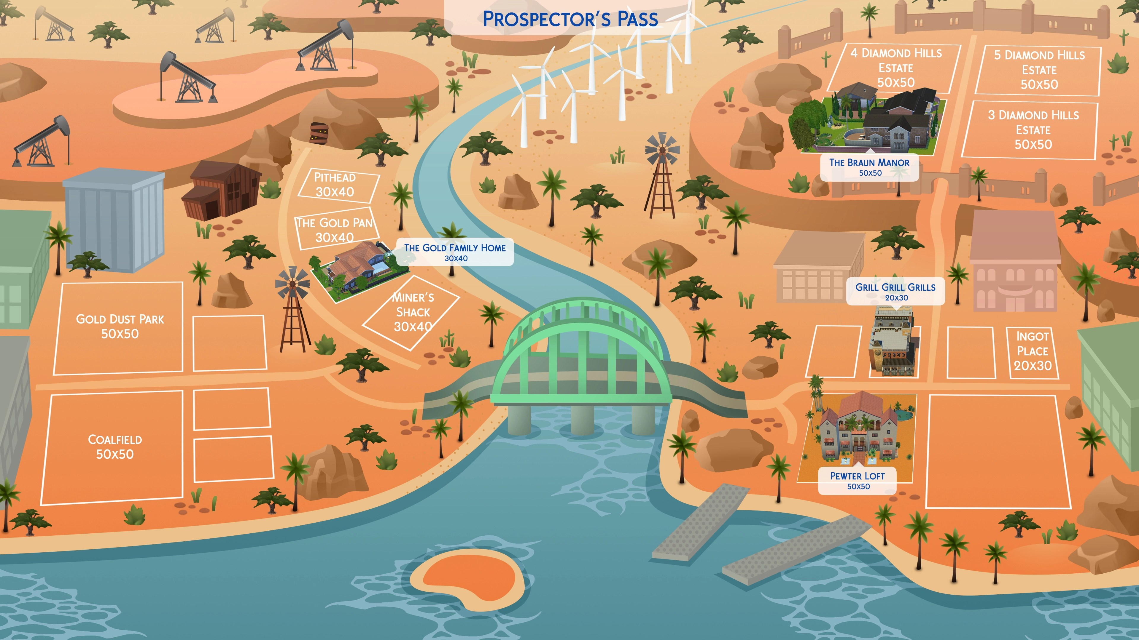 Fan-Made Maps for The Sims 4 - Sims Globe