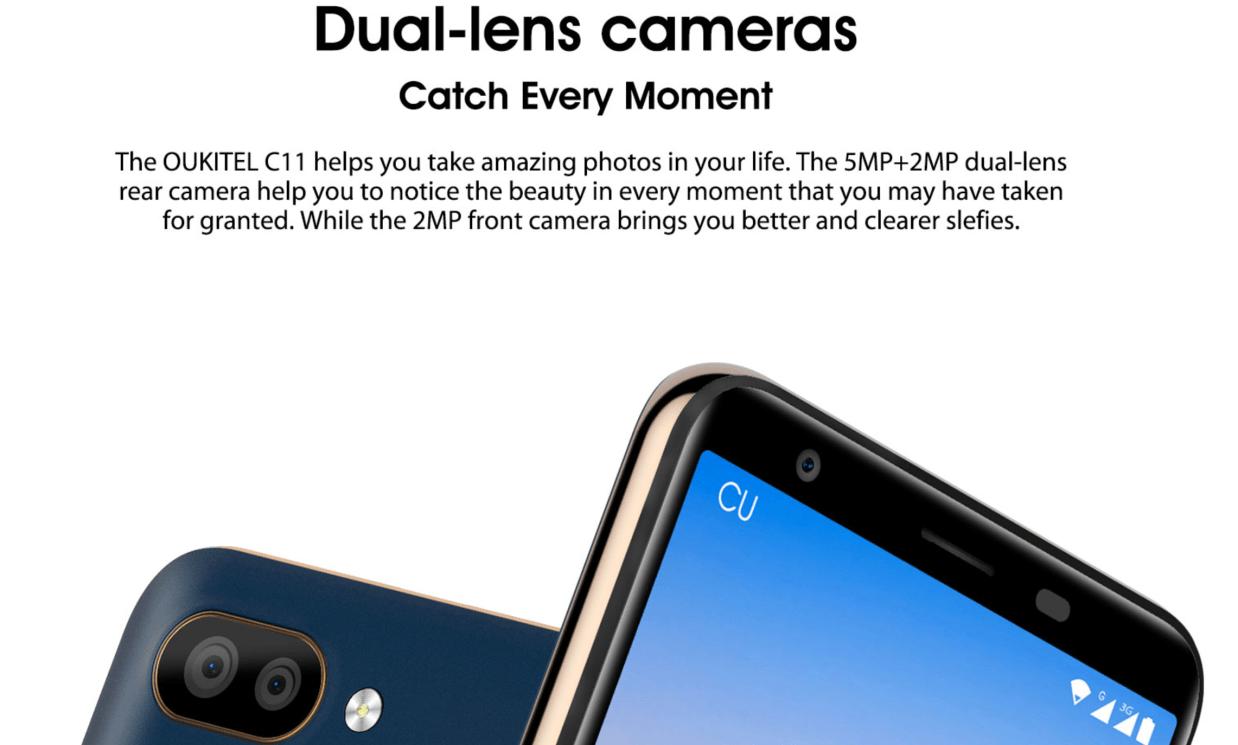 OUKITEL C11 のカメラ