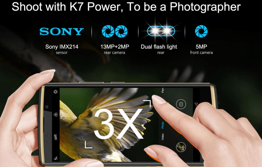 OUKITEL K7 Power camera
