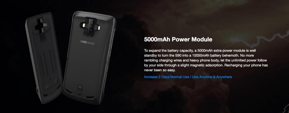 外付けの5000mAhバッテリー