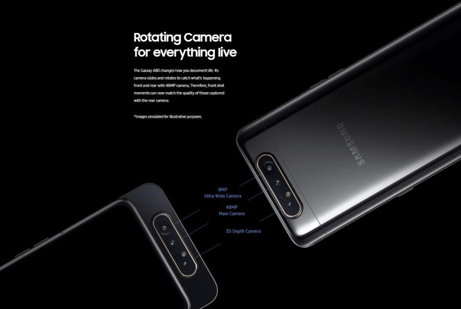 galaxy a80 camera