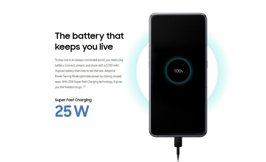 galaxy a80 charging