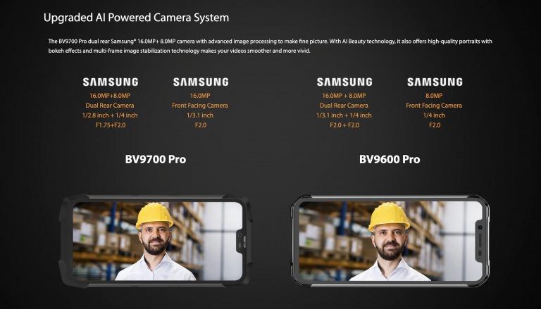 Blackview VB9700 Proのカメラ