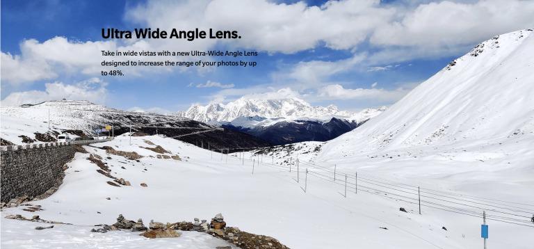 OnePlus 7 Proの広角レンズ