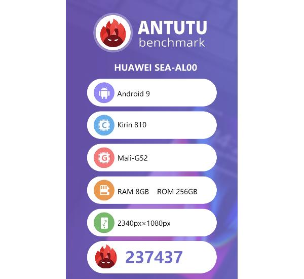 Honor 9X/9X ProのAntutu