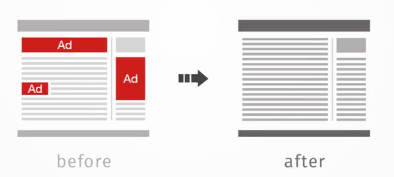 広告表示をブロック